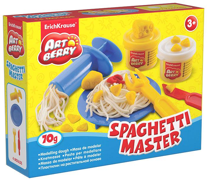 Набор для лепки (на растительной основе) Spaghetti Master, 2 цвета72523WDПластилин на растительной основе Spaghetti Master - увлекательная игрушка, развивающая у ребенка мелкую моторику рук, воображение и творческое мышление. Пластилин легко разминается, не липнет к рукам и рабочей поверхности, не пачкает одежду. Цвета смешиваются между собой, образуя новые оттенки. Пластилин застывает на открытом воздухе через 24 часа. Набор содержит пластилин 2 цветов (белого и желтого), пресс для создания пластилинового спагетти, стек, пластиковые тарелочку и вилочку. Пластилин каждого цвета хранится в отдельной пластиковой баночке. С пластилином на растительной основе Spaghetti Master ваш ребенок будет часами занят игрой.Характеристики:Общий вес пластилина: 70 г. Длина пресса: 7,5 см. Длина стека: 11,5 см. Длина вилки: 10 см. Диаметр тарелки: 10 см. Размер упаковки: 16 см x 11,5 см x 4 см. Изготовитель: Россия.