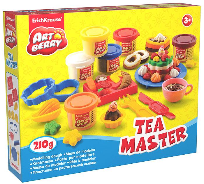 Набор лепки (на растительной основе) Tea Master, 6 цветов30382Пластилин на растительной основе Tea Master - увлекательная игрушка, развивающая у ребенка мелкую моторику рук, воображение и творческое мышление. Пластилин легко разминается, не липнет к рукам и рабочей поверхности, не пачкает одежду. Цвета смешиваются между собой, образуя новые оттенки. Пластилин застывает на открытом воздухе через 24 часа. Набор содержит пластилин 6 цветов (оранжевый, красный, синий, желтый, малиновый, белый), 3 формы-трафарета, 4 формы-штампа, 2 объемных формочки, валик, вилка, чашка, тарелка, стек. Пластилин каждого цвета хранится в отдельной пластиковой баночке. С пластилином на растительной основе Tea Master ваш ребенок будет часами занят игрой.Характеристики:Общий вес пластилина: 210 г. Средний размер формы-трафарета: 7,5 см x 6 см x 1 см. Средний размер формы-штампа: 4,5 см x 4,5 см x 1,5 см. Средний размер оъемных формочек: 5,5 см x 5,5 см x 1 см. Длина вилки: 10 см. Длина валика: 9 см. Диаметр тарелки: 10 см. Диаметр чашки: 4,5 см. Длина стека: 11,5 см. Размер упаковки: 24 см x 18 см x 4,5 см. Изготовитель: Россия.