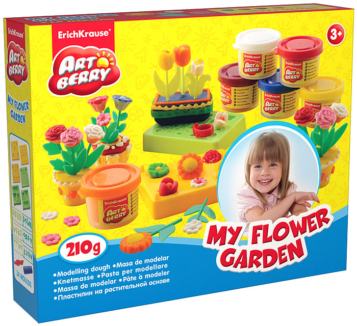 Набор для лепки (на растительной основе) My Flower Garden, 6 цветов280034НПластилин на растительной основе My Flower Garden - увлекательная игрушка, развивающая у ребенка мелкую моторику рук, воображение и творческое мышление. Пластилин легко разминается, не липнет к рукам и рабочей поверхности, не пачкает одежду. Цвета смешиваются между собой, образуя новые оттенки. Пластилин застывает на открытом воздухе через 24 часа. Набор содержит пластилин 6 цветов (синего, белого, малинового, красного, оранжевого, желтого), 6 форм-трафаретов для создания пластилиновых цветов в горшочках, 24 пластиковых стебля с листочками, валик, стек. Пластилин каждого цвета хранится в отдельной пластиковой баночке. С пластилином на растительной основе My Flower Garden ваш ребенок будет часами занят игрой. Характеристики:Общий вес пластилина: 210 г. Средний размер форм-трафаретов: 7,5 см x 6 см x 1,5 см. Средний длина стеблей: 5 см. Длина стека: 11,5 см. Длина валика: 9 см. Размер упаковки: 24 см x 18 см x 4,5 см. Изготовитель: Россия.