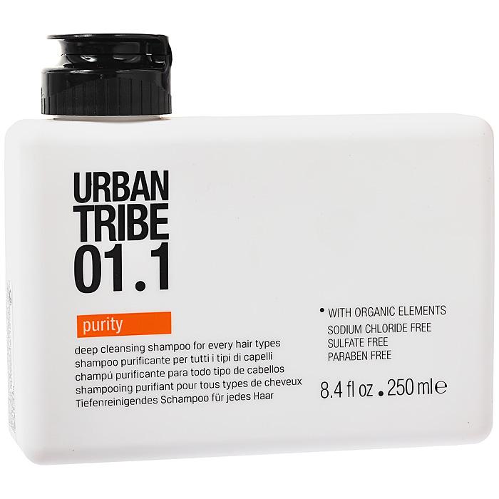 Urban Tribe Шампунь очищающий, для всех типов волос, 250 млFS-00103Очищающий шампунь Urban Tribe для всех типов волос освобождает волосы от остатков укладочных средств и хлора. Интенсивно, но бережно очищает, не высушивая волосы, поддерживает баланс влаги в волосах. Поверхностно-активный ингредиент растительного происхождения, экологически чистый и легко разлагаемый. Оказывает мягкое и натуральное очищающее действие на кожу и волосы, сохраняя цвет окрашенных волос. Семена Моринги, активный очищающий компонент, действует как магнит, притягивая и связывая загрязнения. Ухаживающие веществаувлажняют и делают волосы мягкими, разглаживая непослушные локоны и устраняя статическое электричество. Органические, эко-сертифицированные элементы оказывают увлажняющее, ухаживающее и антиоксидантное действие. Характеристики:Объем: 250 мл. Артикул: UTAPUR030. Производитель: Италия. Товар сертифицирован.