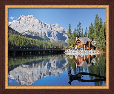 Постер в раме Домик у озера, 40 x 50 см постер в раме дерево 30х60 см