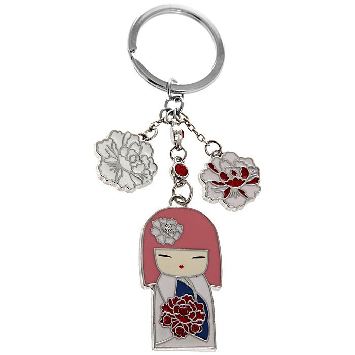 Подвеска-брелок Kimmidoll Тамаки (Драгоценность). KF0523Брелок для ключейПодвеска-брелок Kimmidoll Тамаки (Драгоценность) выполнена из металлаи декорирована элементами в виде цветов и японской куколки в розовом кимоно, а также инкрустирована стразами.Привет, меня зовут Тамаки! Мой дух полон любви и заботы. Если Вы цените все то, что делает Вас уникальным человеком - Вы заставляете сиять мой дух! Позвольте всем, кто Вас любит, ценить Ваши особенные черты и качества, которые питают Ваш, всеми любимый, дух! Характеристики:Материал: стразы, металл. Длина подвески (с кольцом):10 см. Высота куколки:4 см. Размер упаковки:6 см x 15,5 см x 2 см. Артикул:KF0523.