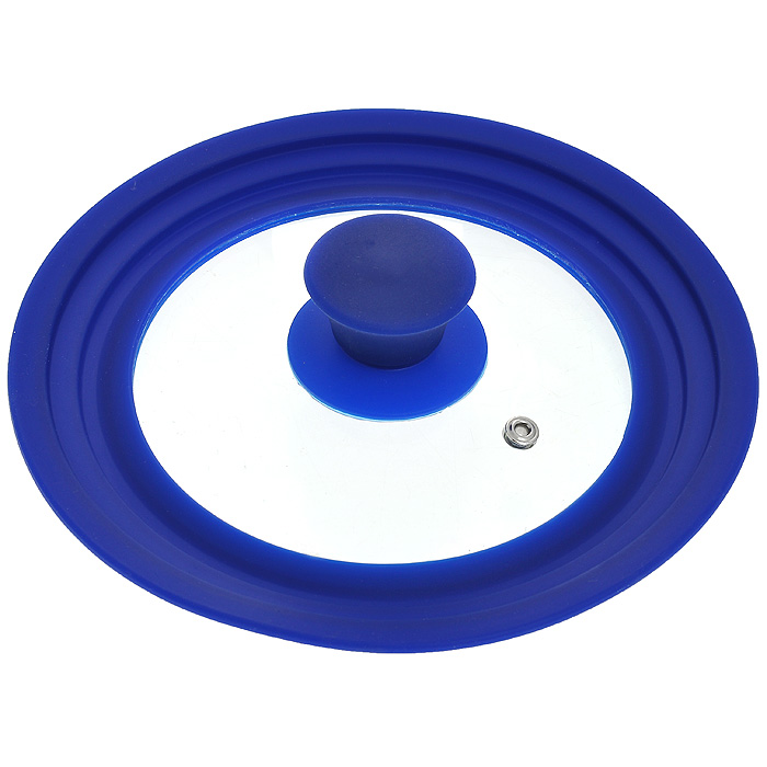 Крышка универсальная Borner, диаметр 16 см, 18 см, 20 см, цвет: синий. 50001012306277Универсальная крышка Borner, выполненная из силикона и стекла, позволит вам сэкономить не только время, но и пространство на кухне: одну крышку можно использовать на посуду разных размеров от 16 см до 20 см в диаметре.Крышка Borner сделана из термостойкого стекла, что позволяет контролировать процесс приготовления без потери тепла. Ободок из силикона выдерживает температуру до 200°С и при этом не выделяет никаких вредных веществ, легко моется и не впитывает запахи, предотвращает появление сколов на стекле. Характеристики:Материал: стекло, силикон. Цвет: синий. Диаметр крышки:16 см, 18 см, 20 см. Артикул: 5000101.