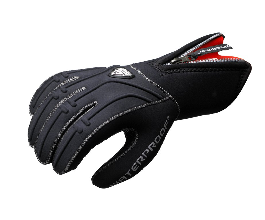 Неопреновые перчатки Waterproof  G1 , 5-палые, толщина: 5 мм. Размер L - Дайвинг