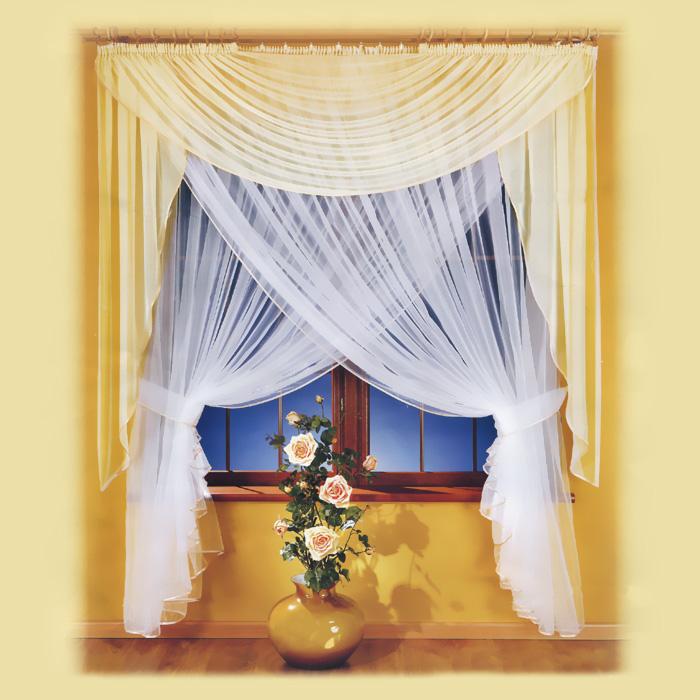 Комплект штор Milena, на ленте, цвет: белый, высота 250 смS03301004Комплект штор Milena великолепно украсит любое окно. Комплект состоит из двойного тюля, выполненного с эффектом нахлеста, и ламбрекена. Для более изящного размещения предусмотрены подхваты. Вуалевый тюль и ламбрекен выполнены из легкого полиэстера белого цвета.Изящный дизайн и нежная цветовая гамма привлекут к себе внимание и органично впишутся в интерьер помещения. Все предметы комплекта оснащены шторной лентой. Характеристики:Материал: 100% полиэстер. Цвет: белый. Размер упаковки:34 см х 40 см х 8 см. Артикул: 672905.В комплект входит: Тюль - 1 шт. Размер (ШхВ): 250 см х 250 см. Ламбрекен - 1 шт. Размер (ШхВ): 250 см х 180 см. Подхват - 2 шт. Фирма Wisan на польском рынке существует уже более пятидесяти лет и является одной из лучших польских фабрик по производству штор и тканей. Ассортимент фирмы представлен готовыми комплектами штор для гостиной, детской, кухни, а также текстилем для кухни (скатерти, салфетки, дорожки, кухонные занавески). Модельный ряд отличает оригинальный дизайн, высокое качество. Ассортимент продукции постоянно пополняется.