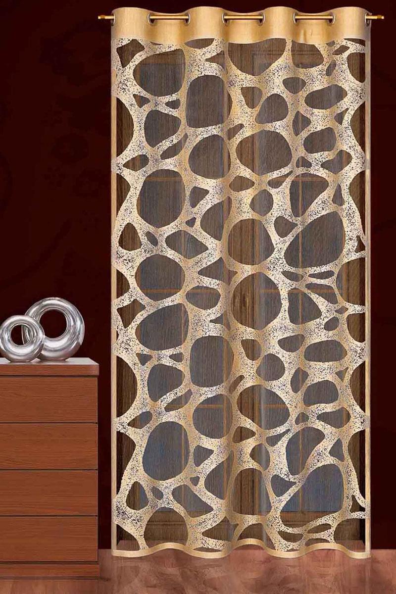 Гардина Piaskowiec, на люверсах, цвет: коричневый, высота 250 смK100Гардина Piaskowiec, выполненная из легкого полиэстера коричневого цвета, станет великолепным украшением любого окна и идеально подойдет к дизайну современных интерьеров. Тонкое плетение и оригинальное исполнение привлекут внимание и украсят интерьер помещения. Гардина оснащена люверсами для крепления на круглый карниз. Характеристики:Материал: 100% полиэстер. Цвет: коричневый. Внутренний диаметр люверса: 3,5 см. Размер упаковки:27 см х 37 см х 4 см. Артикул: 749232.В комплект входит: Гардина - 1 шт. Размер (ШхВ): 145 см х 250 см. Фирма Wisan на польском рынке существует уже более пятидесяти лет и является одной из лучших польских фабрик по производству штор и тканей. Ассортимент фирмы представлен готовыми комплектами штор для гостиной, детской, кухни, а также текстилем для кухни (скатерти, салфетки, дорожки, кухонные занавески). Модельный ряд отличает оригинальный дизайн, высокое качество. Ассортимент продукции постоянно пополняется.