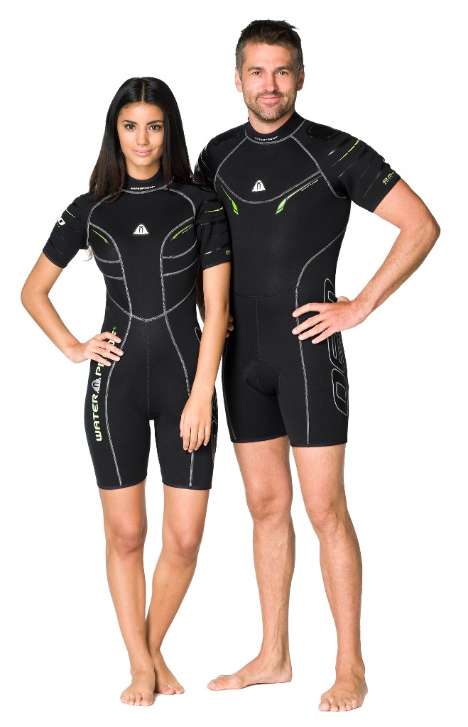 Гидрокостюм Waterproof Shorty W30 женский (M)WP 301123Этот стильный короткий костюм - производная от полного гидрокостюма W30. Эластичный материал и тянущиеся плоские швы обеспечивают максимально возможную свободу движений - то что нужно любителям водных видов спорта. Накладки на плечах не скользят и защищают материал костюма от истирания. Молния с бегунком из нержавеющей стали. Нескользящее покрытие сзади. Крой учитывает особенности женской фигуры.