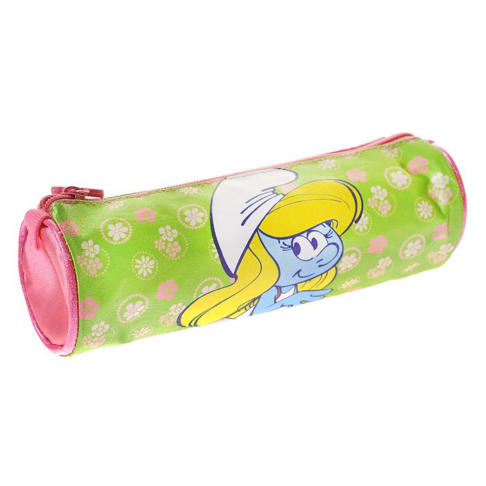"""Пенал-тубус """"Смурфики: Beautiful Girl"""" предназначен для хранения ручек, линеек, карандашей и прочих канцелярских принадлежностей. Он выполнен из плотного материала и оформлен изображением Смурфетты - героини популярного мультфильма """"Смурфики"""". Пенал состоит из одного вместительного отделения, закрывающегося на застежку-молнию. Бегунок на застежке дополнен удобным держателем в виде розового цветочка. Пенал """"Смурфики: Beautiful Girl"""" станет для вашего ребенка лучшим помощником в получении знаний и скрасит долгие часы школьных занятий."""