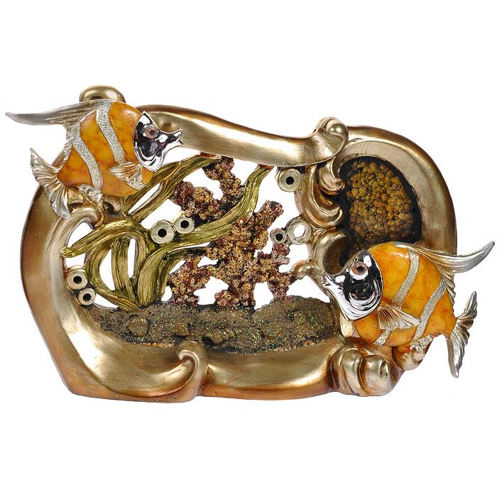 Декоративная композиция Perfecto Рыбки, 18 см67412Декоративная композиция Рыбки, изготовленная из полистоуна, станет отличным украшением интерьера вашего дома или офиса. Вы можете поставить композицию в любом месте, где она будет удачно смотреться, и радовать глаз. Также она может стать оригинальным подарком для всех любителей стильных вещей. Характеристики:Материал: полистоун, стекло. Размер фигурки (ДхШхВ): 30 см х 5 см х 18 см. Размер упаковки: 34,5 см х 9 см х 22 см. Артикул: XL-2365.