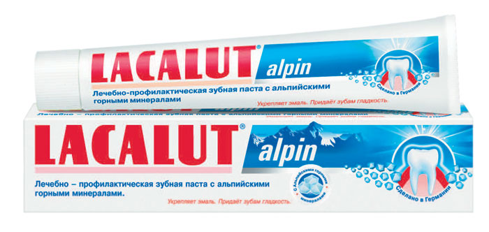 Lacalut Зубная паста Alpin, 75 мл159800704Зубная паста Lacalut Alpin с альпийскими горными минералами.Придает зубам ощутимую гладкость, препятствует образованию зубного налета. Нормализует слюноотделение и самоочищение полости рта. Характеристики:Объем: 75 мл. Артикул: 666109. Производитель: Германия. Товар сертифицирован.