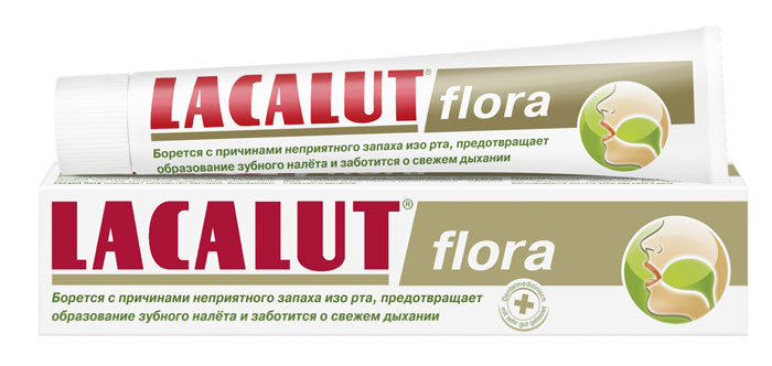 Lacalut Зубная паста Flora, 50 мл lacalut зубная паста flora 50 мл