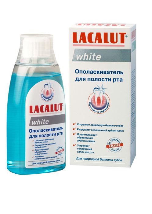Lacalut Ополаскиватель для рта White, 300 млУТ000001233Ополаскиватель для рта Lacalut White готовый к употреблению ополаскиватель для поддержания природной белизны зубов.Удаляет окрашенный зубной налет, тормозит развитие зубного камня, надолго освежает полость рта. Характеристики:Объем: 300 мл. Артикул: 666092. Производитель: Германия. Товар сертифицирован.