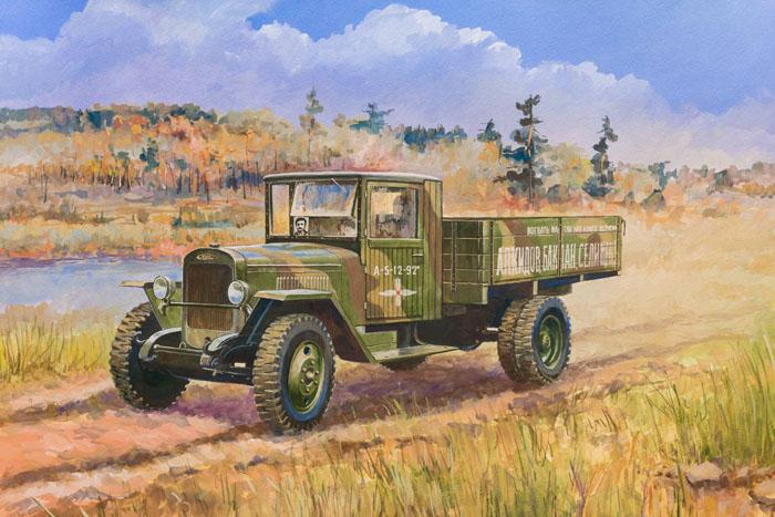 """Сборная модель """"Советский грузовой автомобиль ЗиС-5В"""" привлечет внимание не только ребенка, но и взрослого и позволит своими руками создать уменьшенную копию известного грузовика. Грузовик ЗиС-5В, выпущенный в июне 1942 года, стал настоящей рабочей лошадкой Красной Армии. Он отлично работал в любое время года, при любых погодных и дорожных условиях, был неприхотлив к качеству бензина и легок в обслуживании. При мощности двигателя 73 л. с. он мог тянуть до 3,5 т груза. На базе этого автомобиля было создано много спецмашин: санитарные, ремонтные, зенитные и другие."""