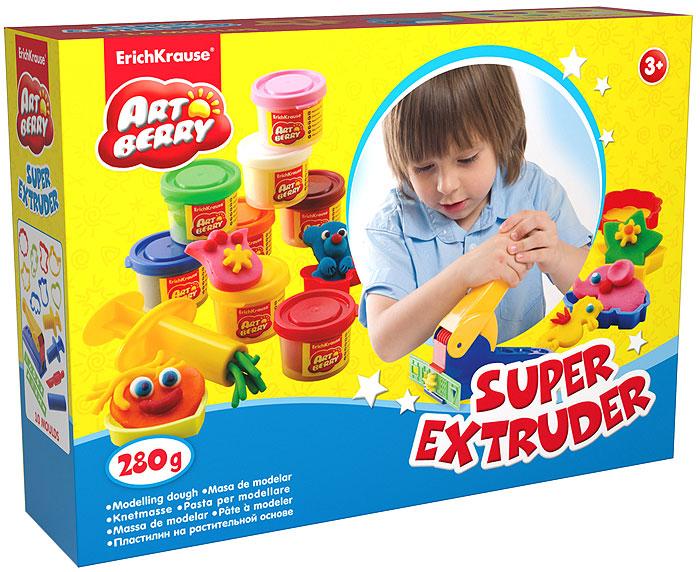 Набор для лепки (на растительной основе) Super Extruder Playset, 8 цветов31Пластилин на растительной основе Super Extruder Playset - увлекательная игрушка, развивающая у ребенка мелкую моторику рук, воображение и творческое мышление. Пластилин легко разминается, не липнет к рукам и рабочей поверхности, не пачкает одежду. Цвета смешиваются между собой, образуя новые оттенки. Пластилин застывает на открытом воздухе через 24 часа. Набор содержит пластилин 8 цветов (белого, оранжевого, синего, розового, зеленого, желтого, красного, малинового), 8 объемных формочек, 2 формы-трафарета,большой прессовочный аппарат, 2 ручных пресса для изготовления пластилинового спагетти, ролик, валик, стек.Пластилин каждого цвета хранится в отдельной пластиковой баночке. С пластилином на растительной основе Super Extruder Playset ваш ребенок будет часами занят игрой. Характеристики:Общий вес пластилина: 280 г. Средний размер формочек: 5,5 см x 5,5 см x 1 см. Средний размер форм-трафаретов: 16 см x 3 см. Размер прессовочного аппарата: 17 см x 7,5 см x 6,5 см. Длина стека: 11,5 см. Длина валика: 9 см. Длина ручного пресса: 7,5 см. Длина ролика: 10 см. Размер упаковки: 24 см x 18 см x 4,5 см. Изготовитель: Россия.
