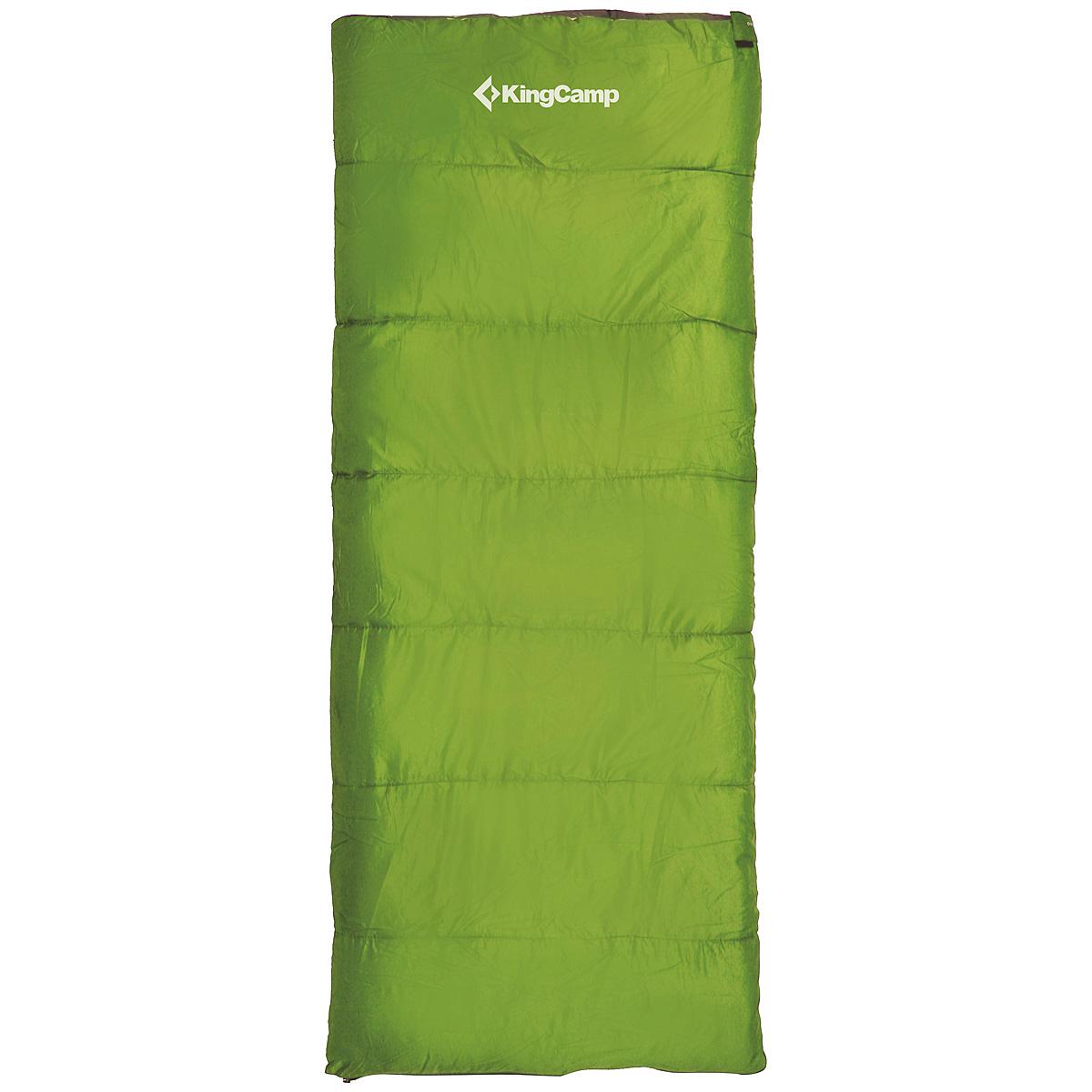 Спальный мешок-одеяло KingCamp OXYGEN, цвет: зеленый. ks3122010-01199-23Комфортный спальник-одеяло имеет прямоугольную форму и одинаковую ширину как вверху, так и внизу, благодаря чему ноги чувствуют себя более свободно. Молния располагается на боковой стороне, благодаря чему при её расстёгивании спальник превращается в довольно большое одеяло. Характеристики:Размер спального мешка с учетом подголовника: 180 см х 75 см. Утеплитель: четырехканальное волокно Hollowfibre (Comfort Loft), 200 г/м2. Внешний материал:полиэстер 190Т W/P. Внутренний материал: 100% полиэстер. Экстремальная температура: 8°C. Температура комфорта: 12°C...18°С. Вес: 0,92 кг. Изготовитель:Китай. Размер в сложенном виде: 35 см х 19 см х 19 см. Артикул:KS3122.