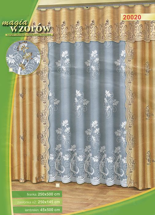 Комплект штор Haft, на ленте, цвет: белый, песочный, высота 250 см100-49000000-60Комплект штор Haft, изготовленный из полиэстера, органично впишется в интерьер любой комнаты. В набор входят две шторы, тюль и ламбрекен. Тонкое плетение, оригинальный дизайн привлекут к себе внимание и органично впишутся в интерьер. Все элементы комплекта на шторной ленте для собирания в сборки. Характеристики:Материал: 100% полиэстер. Цвет: белый, песочный. Размер упаковки:38 см х 6 см х 59 см. Артикул: 530930.В комплект входит: Штора - 2 шт. Размер (ШхВ): 145 см х 250 см. Тюль - 1 шт. Размер (ШхВ): 500 см х 250 см. Ламбрекен - 1 шт. Размер (ШхВ): 500 см х 45 см.УВАЖАЕМЫЕ КЛИЕНТЫ!Обращаем ваше внимание на цвет изделия. Цветовой вариант комплекта, данного в интерьере, служит для визуального восприятия товара. Цветовая гамма данного комплекта представлена на отдельном изображении фрагментом ткани.