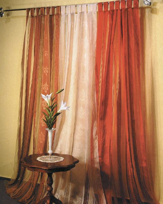 Гардина Schaefer на петлях, цвет: коричневый, 140 см х 245 см. 06475-596 гардина schaefer на петлях цвет оранжевый черный 140 см х 245 см 06929 596