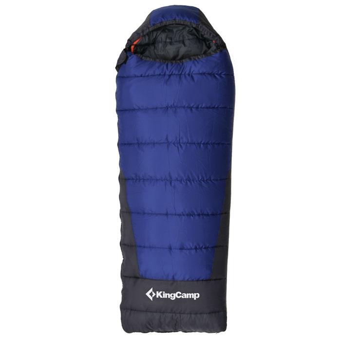 Спальный мешок KingCamp Explorer 250 KS3150, левосторонняя молния, цвет: синий010-01199-23Трехсезонный спальный мешок-одеяло KingCamp Explorer 250 с подголовником - незаменимая вещь для любителей уюта и комфорта во время активного отдыха. Теплый спальный мешок спасет вас от холода во время туристического похода, поездки на рыбалку даже в межсезонье.Верхний слой мешка-одеяла выполнен из прочного полиэстера Cell RipStop с водоотталкивающим покрытием. В качестве наполнителя использован четырехканальный холлофайбер. Спальный мешок закрывается на двустороннюю застежку-молнию. Спальный мешок упакован в удобный компрессионный чехол для переноски из нейлона.