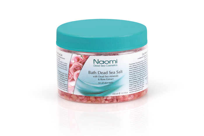 Naomi Соль Мертвого моря, с экстрактом розы, 350 млFS-00897Соль для ванн Naomi - это уникальное сочетание минералов и микроэлементов Мертвого моря, известных своим благотворным воздействием на кожу, нервную систему и организм в целом. Ванны с добавлением этой соли снимет напряжение, расслабят мышцы, успокоят нервную систему, смягчат кожу, будут полезны при псориазе, дерматите, экземе, себорее и т.д. Растворенные в воде натуральные минералы разглаживают кожу, восстанавливают ее естественный баланс. Характеристики:Объем: 350 мл. Артикул: KM 0013. Производитель: Израиль. Товар сертифицирован.