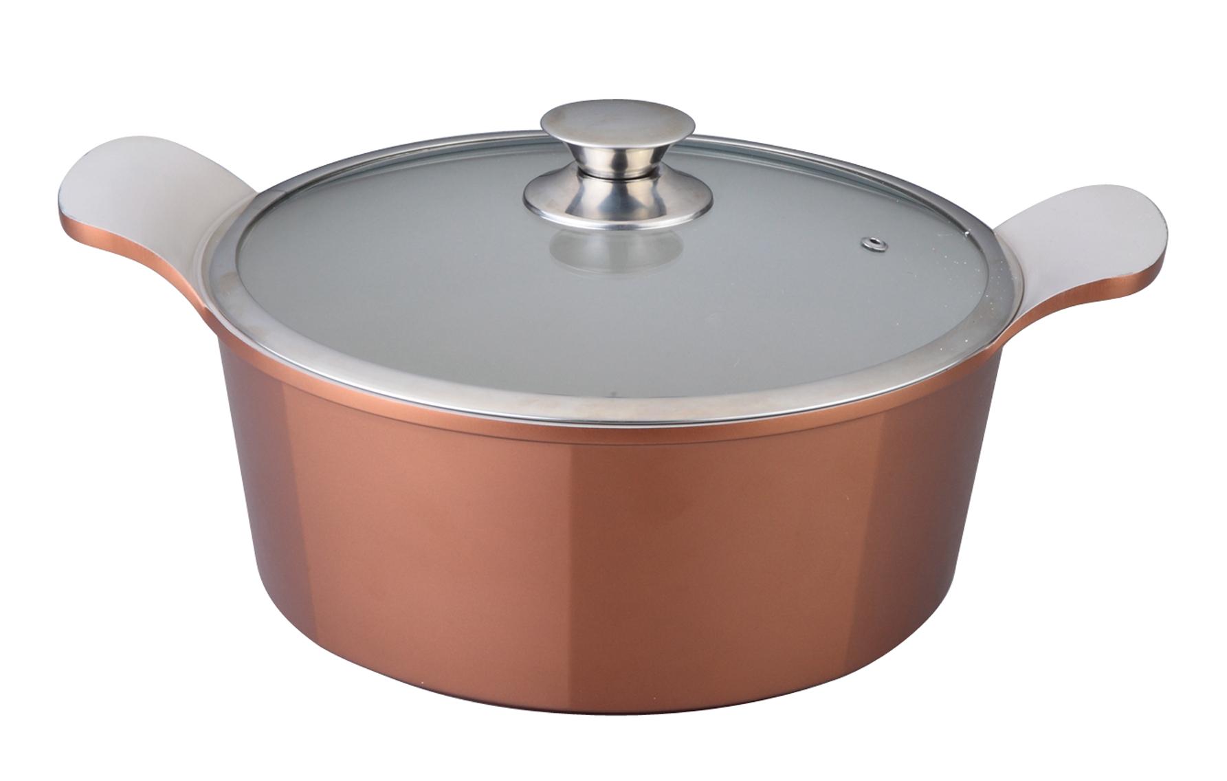 Кастрюля Winner с крышкой, 2,4 л. WR-1408115510Кастрюля Winner выполнена из высококачественного литого алюминия с антипригарным керамическим нанопокрытием Ilag. Посуда с нанопокрытием обладает высокой прочностью, жаро-, износо-, коррозийной стойкостью, химической инертностью. При нагревании до высоких температур не выделяет и не впитывает в себя вредных для человека химических соединений. Нанопокрытие гарантирует быстрый и равномерный нагрев посуды и существенную экономию электроэнергии. Данная технология позволяет исключить деформацию корпуса при частом и длительном использовании посуды. Кастрюля имеет внешнее цветное жаропрочное силиконовое покрытие. Крышка, выполненная из термостойкого стекла, позволит вам следить за процессом приготовления пищи. Крышка плотно прилегает к краю кастрюли, предотвращая проливание жидкости и сохраняя аромат блюд.Изделие подходит для использования на всех типах плит, включая индукционные. Можно мыть в посудомоечной машине.Это идеальный подарок для современных хозяек, которые следят за своим здоровьем и здоровьем своей семьи. Эргономичный дизайн и функциональность позволят вам наслаждаться процессом приготовления любимых, полезных для здоровья блюд. Характеристики: Материал: литой алюминий, стекло. Объем: 2,4 л. Внутренний диаметр: 20 см. Высота стенки: 8 см. Толщина стенки: 2 мм. Толщина дна: 0,5 см. Размер упаковки: 24,5 см х 24 см х 11 см. Производитель: Германия. Изготовитель: Китай. Артикул:WR-1408.