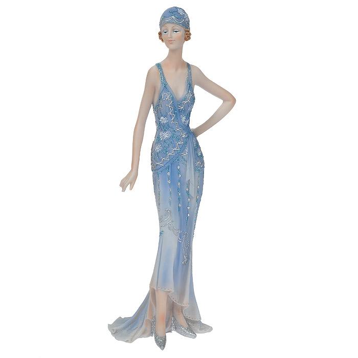 Статуэтка Леди в синем платье, высота 32 смФ21-1684Статуэтка Леди в синем платье, выполненная из полистоуна, станет отличным украшением интерьера вашего дома или офиса. Статуэтка выполнена в виде девушки в изящном синем платье, украшенном блестками.Вы можете поставить статуэтку в любом месте, где она будет удачно смотреться, и радовать глаз. Также она может стать оригинальным подарком для всех любителей стильных вещей. Характеристики:Материал: полистоун. Размер статуэтки (Ш х Д х В): 12 см х 8 см х 32 см. Размер упаковки: 11 см х 13 см х 35 см. Артикул: 514-1022.