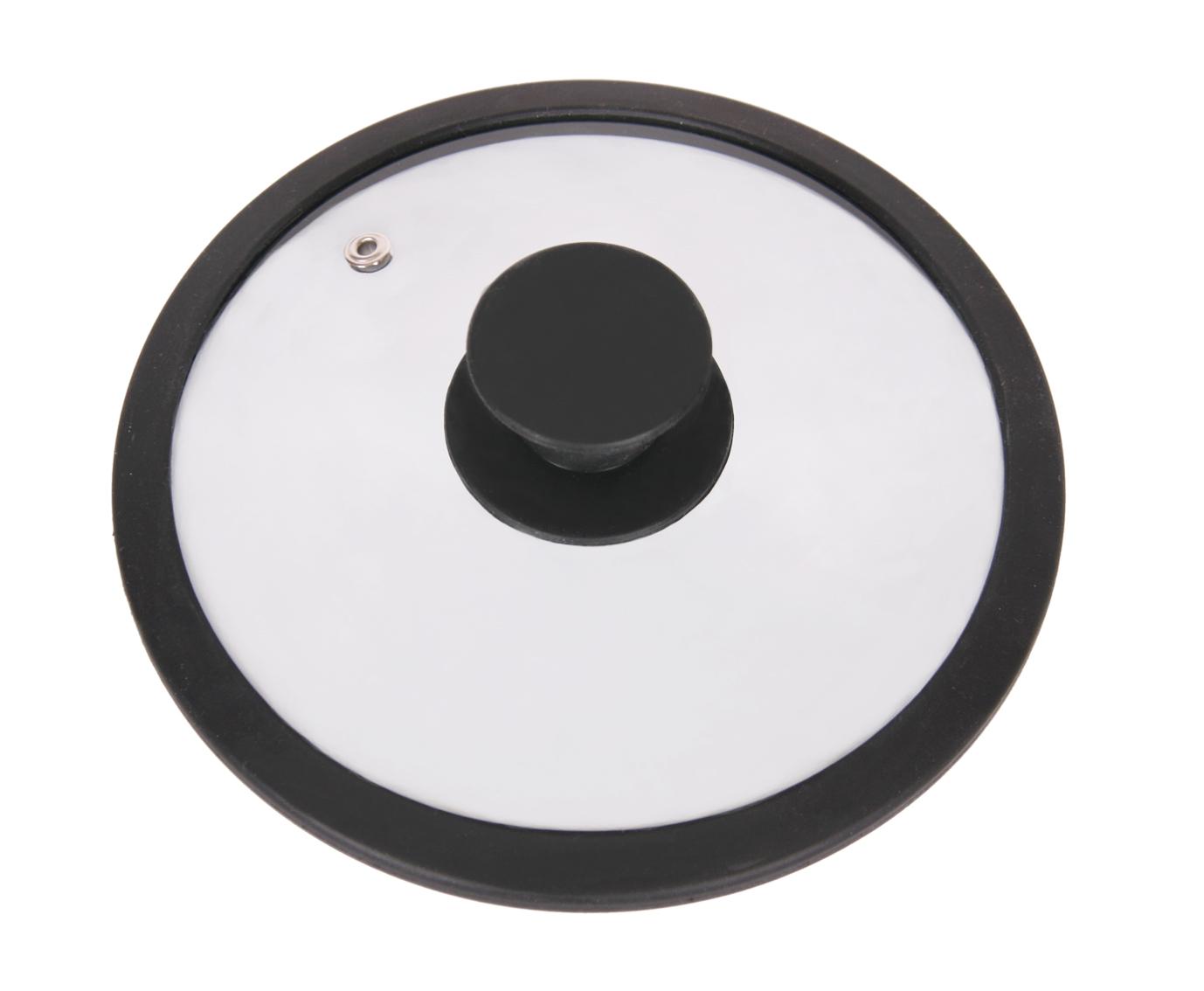 Крышка стеклянная Winner, цвет: черный. Диаметр 16 см68/5/4Крышка Winner изготовлена из термостойкого стекла с ободом из силикона. Крышка оснащена отверстием для выпуска пара. Ручка, выполненная из термостойкого бакелита с силиконовым покрытием, защищает ваши руки от высоких температур. Крышка удобна в использовании и позволяет контролировать процесс приготовления пищи. Характеристики:Материал:стекло, силикон, бакелит. Диаметр: 16 см. Изготовитель: Германия. Производитель: Китай. Размер упаковки: 16,6 см х 16,6 см х 4 см. Артикул: WR-8300.
