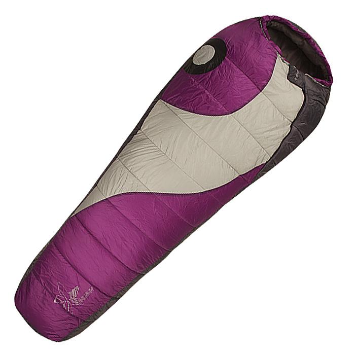 Спальный мешок-кокон Husky Apollo Ladies, левосторонняя молния, цвет: фиолетовыйУТ-000055391Новый теплый женский спальный мешок в серии Husky Comfort для комфортного кемпинга. В качестве утеплителя использован eXtherm-Pro - современное волокно из полиэстера с четырьмя каналами, покрытое слоем силикона. Оно идеально сохраняет форму, не поглощает влагу и не аллергично. Специальная анатомичная форма, флис в подголовнике, дополнительная короткая молния для вентиляции, антискользящие полосы, карман для телефона, компрессионный мешок, рефлексивные элементы.Утеплитель: полиэстеровое фиброволокно eXterm-pro Insulation, 2х200г/м2.Внешний материал: 40D 240T нейлон Tactel Ripstop.Внутренний материал: нейлон, микрофлис.