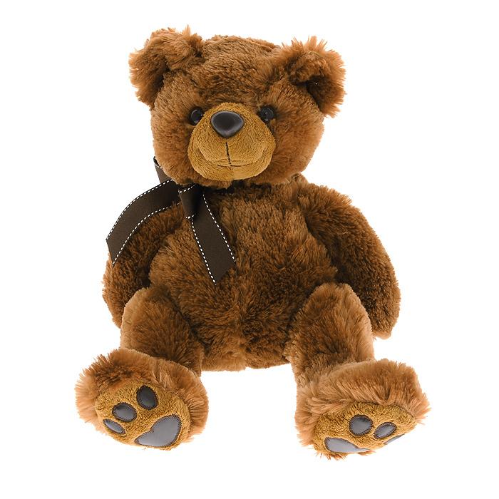 """Мягкая игрушка Aurora """"Медведь"""", цвет: темно-коричневый, 36 см"""