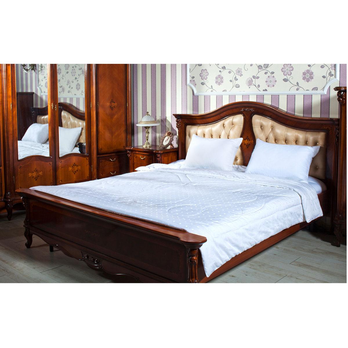 Одеяло Silk, наполнитель: шелк Тусса, полиэстер, цвет: белый, 200 х 220 см одеяло kazanov a luxury мulberry silk цвет слоновая кость 200 х 220 см