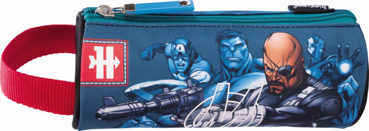 """Пенал-тубус Erich Krause """"Команда Мстителей"""" предназначен для хранения ручек, линеек, карандашей и прочих канцелярских принадлежностей. Он выполнен из плотного полиэстера синего цвета и оформлен изображением героев Команды Мстителей. Пенал состоит из одного вместительного отделения, закрывающегося на застежку-молнию. Пенал снабжен удобной ручкой для переноски в руке. Пенал Erich Krause """"Команда Мстителей"""" станет для вашего ребенка лучшим помощником в получении знаний и скрасит долгие часы школьных занятий."""