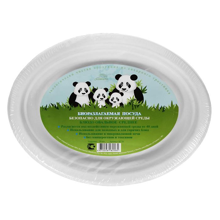 Набор овальных био-блюд Greenmaster, цвет: белый, 26 см х 20 см, 10 штVT-1520(SR)Набор Greenmaster состоит из 10 овальных био-блюд. Биоразлагаемая посуда, полученная из сахарного тростника, является экологически чистой и абсолютно безопасной для окружающей среды. Разлагается под воздействием окружающей среды от 40 дней. Используется для холодных и для горячих блюд. Можно использовать в микроволновой печи. Без канцерогенов и токсинов.Материал: сахарный тростник 100%.Размер блюда: 26 см х 20 см х 2 см.Комплектация: 10 штук.