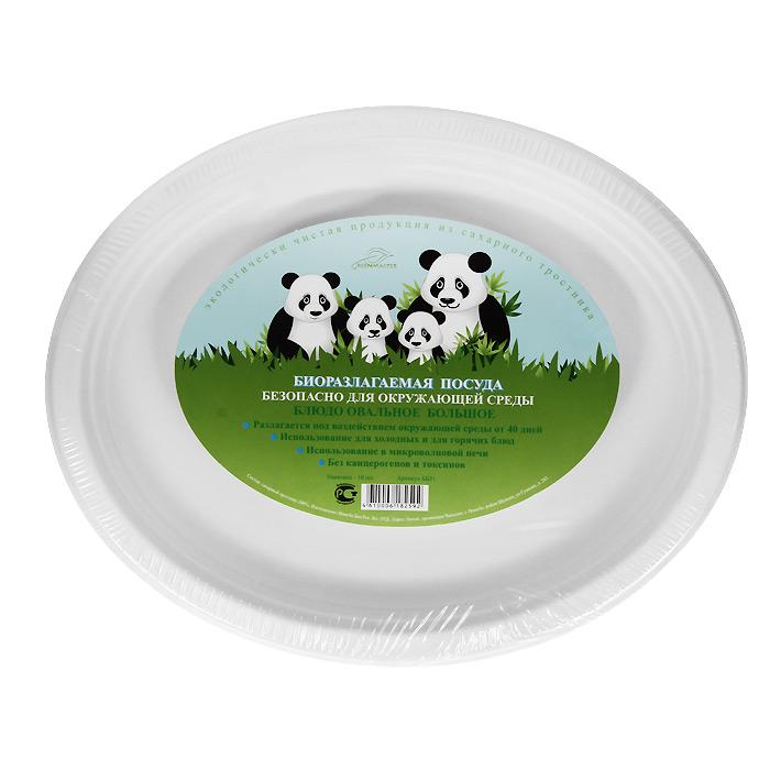 Набор овальных био-блюд Greenmaster, цвет: белый, 32 см х 26 см, 10 штVT-1520(SR)Набор Greenmaster состоит из 10 овальных био-блюд. Биоразлагаемая посуда, полученная из сахарного тростника, является экологически чистой и абсолютно безопасной для окружающей среды. Разлагается под воздействием окружающей среды от 40 дней. Используется для холодных и для горячих блюд. Можно использовать в микроволновой печи. Без канцерогенов и токсинов.Материал: сахарный тростник 100%.Размер блюда: 32 см х 2,5 см х 26 см.Комплектация: 10 штук.