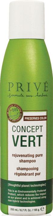 Prive Шампунь для волос Concept Vert, восстанавливающий, очищающий, 200 млMP59.4DУникальный экстракт ягод асаи, масло бабассу из тропических лесов Амазонии и смесь трав обеспечивают интенсивное восстановление, благодаря большой концентрации антиоксидантов и укрепляющих компонентов в них. Шампунь Prive Concept Vert делает волосы здоровыми и блестящими. Защищает цвет окрашенных волос.Запатентованная воздушная технология позволяет в 2 раза увеличить количество продукта в упаковке. Шампунь Prive Concept Vert содержит органические компоненты (экстракты ягод асаи, бурых водорослей, гвоздики и ромашки), в нем отсутствуют вредные для организма синтетические компоненты - сульфаты, парабены, фталаты, глютен, минеральные масла, парафины, PABA, DEA, TEA, искусственные красители. Характеристики:Объем: 200 мл. Артикул: PRV4920040. Производитель: США. Товар сертифицирован.