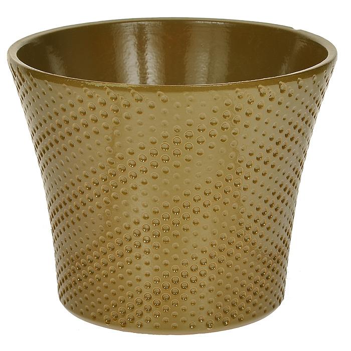 Кашпо для цветов Almas, цвет: оливковый, 1,7 л, диаметр 17 смKOC_SOL373Кашпо для цветов Almas оригинального дизайна с рельефным рисунком, выполненное из высококачественной керамики - прекрасный способ подчеркнуть красоту и уникальность растения и дополнить интерьер помещения. Характеристики:Материал: керамика. Объем: 1,7 л. Размер кашпо: 17 см х 17 см х 14 см. Размер упаковки: 17 см х 17 см х 14 см. Цвет: оливковый. Артикул: Пт 05717748.