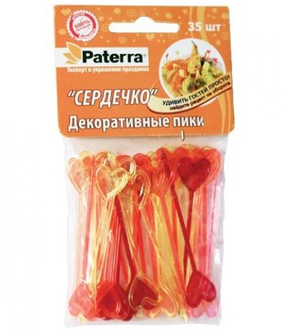 Пики для канапе Paterra Сердечко, 35 шт. 401-764KYS-333DДекоративные пики Paterra Сердечко помогут вам создать миниатюрные канапе из самых простых продуктов, сделают десерт аппетитнее, а напиток вкуснее. Представьте, насколько ярким и красивым станет ваш праздничный стол, и как будут приятно удивлены гости мастерством хозяйки. Украшая такими пиками детские блюда, вам легко и быстро удастся превратить полезные блюда в супервкусные. Станьте оригинальной хозяйкой с пиками Paterra! Характеристики: Материал: полистирол.Длина пики: 8,5 см.Комплектация: 35 шт. Артикул: 401-764.