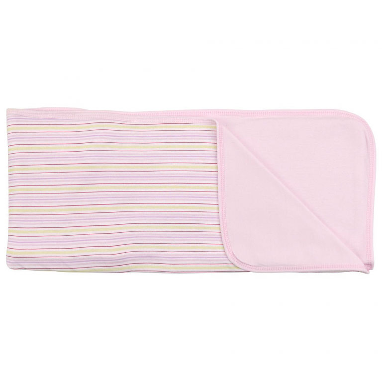 Пеленальное одеяло  Розовые полоски , цвет: розовый, 71 см х 90 см - Детский текстиль