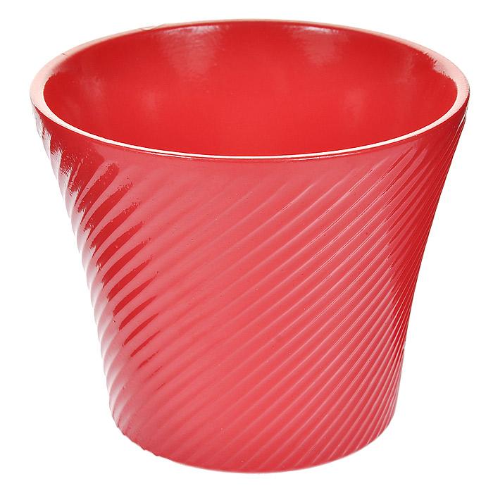 Кашпо для цветов Almas, цвет: розовый, 0,6 л, диаметр 12 смKOC_SOL373Кашпо Almas выполнено из керамики розового цвета и оформлено рельефным орнаментом в мелкую диагональную полоску. Такое кашпо прекрасно подойдет для небольших комнатных растений и ярко оформит интерьер вашего дома или офиса. Характеристики:Материал: керамика. Объем: 0,6 л. Диаметр кашпо: 12 см. Высота кашпо: 10,5 см. Цвет: розовый. Артикул: Пт 05512699.