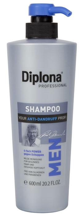 Diplona Professional Шампунь для мужчин Против перхоти, 600 мл4751006751620Шампунь Diplona Professional Против перхоти создан специально для мужских волос, оказывает экстра-защиту против перхоти.Содержит 4 активных компонента: - Пироктоноламин: высокоэффективное средство против перхоти, противогрибковое, противомикробное действие. Нормализует состояние клеток эпидермиса кожи головы. - Салициловая кислота: обладает пилинговым эффектом, очищает кожу головы и удаляет ороговевший слой. Оказывает кератолитическое, бактерицидное и противовоспалительное действие. Способствует быстрому обновлению клеток эпидермиса и росту новых клеток.- Цинк: микроэлемент, бактериальный и грибковый антисептик. - Аллантоин + пантенол: сильное увлажняющее и восстанавливающее для кожи и волос. Смягчает кожу, успокаивает её, способствует снятию раздражения, уменьшает зуд, благоприятствует росту новых клеток кожи. Характеристики:Объем: 600 мл. Артикул: 095198. Производитель: Германия. Товар сертифицирован.