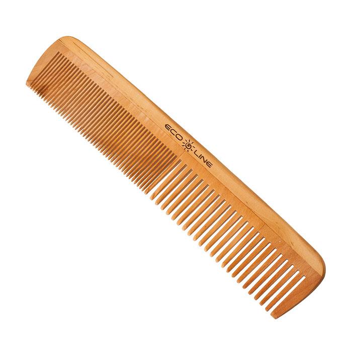 Eco Line Гребень, карманный. 350-B1135MP59.4DГребень Eco Line для волос из дерева и бамбука более прочные, легкие и долговечные. Они прекрасно подходят как для профессионального, так и для домашнего применения. Дерево является самым экологическим чистым материалом. Натуральные изделия обладают антибактериальным эффектом. Характеристики:Материал: дерево. Размер гребня: 20 см х 4 см х 0,8 см. Артикул: 350-B1135. Товар сертифицирован.