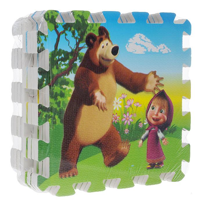 """Коврик-пазл """"Маша и Медведь"""" состоит из восьми элементов c изображениями героев популярного мультсериала """"Маша и Медведь"""". Коврик-пазл способствует развитию у ребенка пространственного мышления и геометрических ассоциаций, он учится анализировать и сопоставлять детали. Коврик выполнен из экологически безопасного материала, обладающего большой плотностью, высоким сопротивлением нагрузкам на разрыв и сгиб, теплоизоляционными качествами и способностью сохранять форму и гибкость при охлаждении. Это обеспечивает комфорт и удобство в использовании в виде напольного покрытия в детской и ванной комнате, в спортивном зале или даже на пляже. Он смягчает падения, просто чистится и очень надежен."""