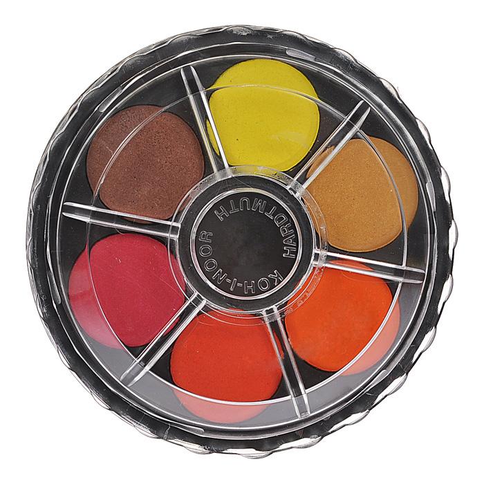 Краски акварельные Koh-I-Noor, 12 цветов19С 1294-08Акварельные краски Koh-I-Noor идеально подойдут для детского художественного творчества, изобразительных и оформительских работ. Краски мягко ложатся на бумагу, легко смешиваются между собой, не крошатся и не смазываются, быстро сохнут. В качестве красящего элемента использованы натуральные пигменты. Нетоксичны и абсолютно безвредны. В набор входят краски 12 ярких насыщенных цветов.В процессе рисования у детей развивается наглядно-образное мышление, воображение, мелкая моторика рук, творческие и художественные способности, вырабатывается усидчивость и аккуратность. Краски упакованы в удобный круглый пластиковый пенал с двумя ярусами, закрывающийся крышкой-палитрой. Характеристики:Диаметр краски: 2,5 см. Размер упаковки: 8,5 см x 8,5 см x 2,5 см.
