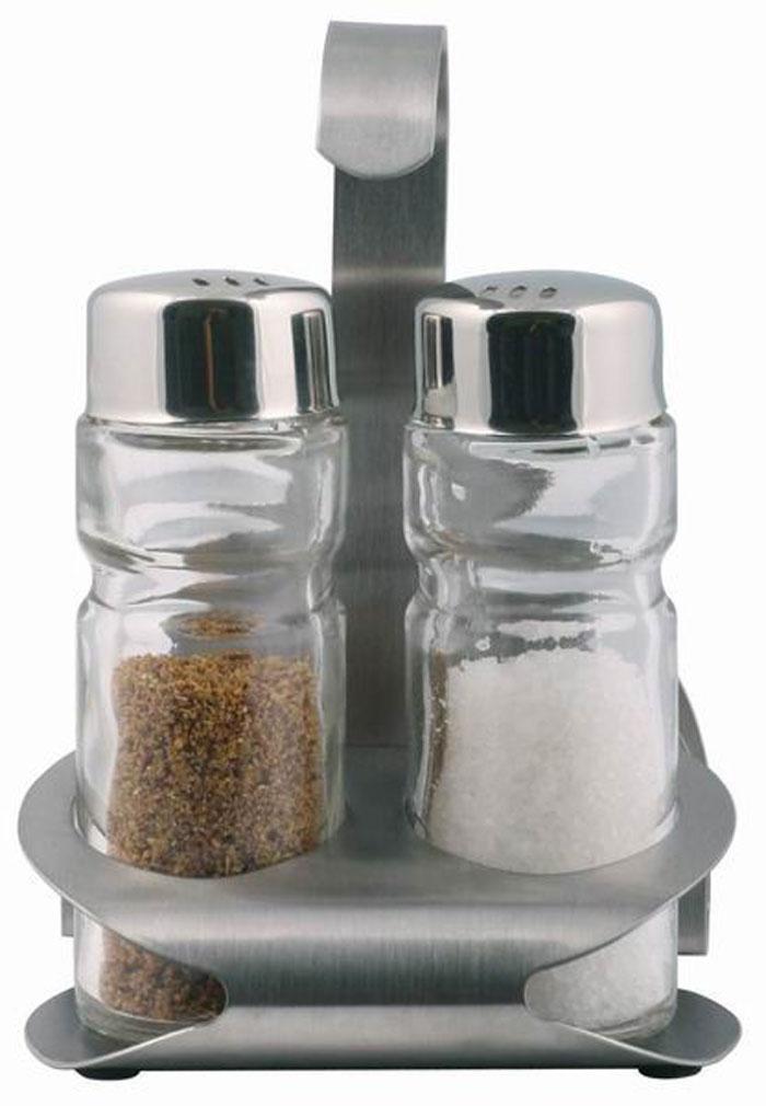 Набор для специй Aroma: солонка и перечница. 93-DE-AR-1293-DE-AR-12Набор Aroma состоит из солонки и перечницы на подставке. Предметы набора изготовлены из нержавеющей стали и стекла. Солонка и перечница легки в использовании: стоит только перевернуть емкости, и вы с легкостью сможете поперчить или добавить соль по вкусу в любое блюдо.Можно мыть в посудомоечной машине.Оригинальный дизайн, эстетичность и функциональность набора позволят ему стать достойным дополнением к кухонному инвентарю. Характеристики:Материал: нержавеющая сталь, стекло. Высота емкости: 9 см. Диаметр основания: 3 см. Размер подставки: 11,5 см х 8,5 см х 6 см Размер упаковки: 13 см х 9 см х 6,5 см. Артикул: 93-DE-AR-12.
