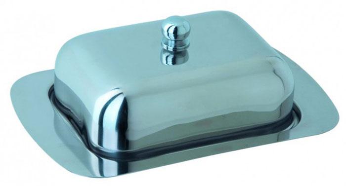 Масленка Regent Inox Desco. 93-DE-BB-011104605Масленка Regent Inox Desco с крышкой изготовлена из экологически чистой высококачественной нержавеющей стали 18/10 с зеркальной полировкой. Она предназначена для красивой сервировки и хранения масла. Масленка обладает оригинальным, современным дизайном, простотой в сипользовании, лёгкостью в уходе. Такая масленка прекрасно подойдет для вашей кухни. Характеристики: Материал: нержавеющая сталь. Размер подставки: 18,5 см х 12 см х 1 см. Размер крышки: 13,5 см х 10 см х 5,5 см. Размер упаковки: 19,5 см х 8 см х 12,5 см. Изготовитель: Италия. Артикул: 93-DE-BB-01.