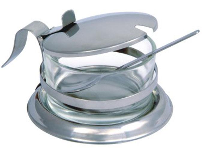 Сахарница Desco с ложкой77.858@23274Сахарница Linea Desco изготовлена из экологически чистых материалов: нержавеющей стали и стекла. Сахарница состоит из стального каркаса и стеклянной вынимающейся емкости для сахара, закрывается удобной откидной крышкой со специальным держателем. В комплекте - небольшая ложечка из нержавеющей стали. Можно мыть в посудомоечной машине.Такая сахарница понравится любителям яркого оригинального дизайна и станет неотъемлемым атрибутом чаепития. Характеристики:Материал: нержавеющая сталь, стекло. Внутренний диаметр сахарницы по верхнему краю: 8,5 см. Высота сахарницы (с учетом крышки): 7 см. Длина ложечки: 12 см. Размер упаковки: 13,5 см х 12 см х 8 см. Артикул: 93-DE-ZU-09.