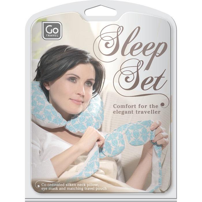 Набор для путешествий  Go travel : маска для сна, подушка. 711 DG - Маски, наборы для сна