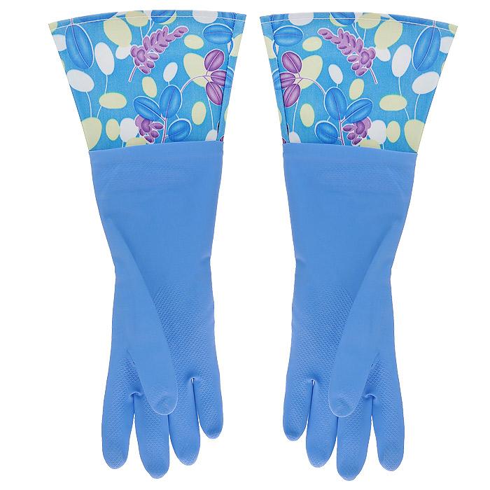 Перчатки латексные, с манжетой из полиэстера и внутренним хлопковым напылением. Размер М. 29493790009Хозяйственные перчатки, выполненные из латекса, идеально подойдут для всех видов хозяйственных работ. Они бережно и надежно предохранят нежную кожу рук от агрессивной внешней среды, такой, как жесткая водопроводная вода и моющие средства. Высокие манжеты защищают рукава от грязи и влаги. Не дают воде попадать во внутрь.