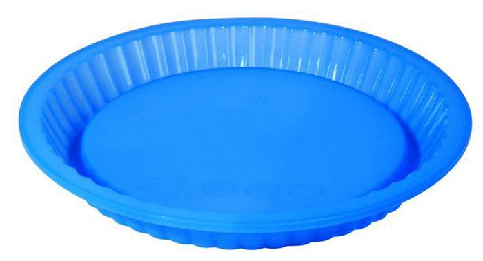 Форма для пирога Regent Inox, силиконовая, цвет: синий, диаметр 27 см629336Форма для пирога Regent Inox выполнена из силикона синего цвета, стенки формы рельефные.Силиконовые формы для выпечки имеют много преимуществ по сравнению с традиционными металлическими формами и противнями. Они идеально подходят для использования в микроволновых, газовых и электрических печах при температурах до +230°С. В случае заморозки до -40°С.За счет высокой теплопроводности силикона изделия выпекаются заметно быстрее. Благодаря гибкости и антиприлипающим свойствам силикона, готовое изделие легко извлекается из формы. Для этого достаточно отогнуть края и вывернуть форму (выпечке дайте немного остыть, а замороженный продукт лучше вынимать сразу).Силикон абсолютно безвреден для здоровья, не впитывает запахи, не оставляет пятен, легко моется.С такой формой вы всегда сможете порадовать своих близких оригинальной выпечкой. Характеристики:Материал: силикон. Цвет: синий. Диаметр формы: 27 см. Высота формы: 3 см. Артикул: 93-SI-FO-03.