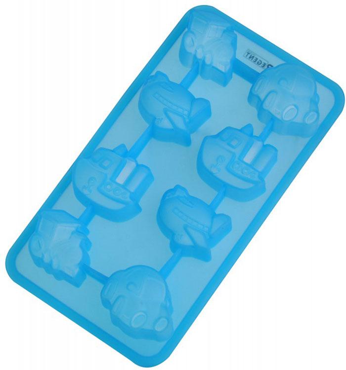 Форма для выпечки и заморозки Regent Inox Путешествие, цвет: синий, 8 ячеек470018Форма для выпечки и заморозки Regent Inox Путешествие выполнена из силикона и предназначена для изготовления конфет, мармелада, желе, льда и выпечки. На одном листе расположено 8 небольших ячеек в форме разнообразных транспортных средств. Оригинальный способ подачи изделий не оставит равнодушными родных и друзей.Силиконовые формы выдерживают высокие и низкие температуры (от -40°С до +230°С). Они эластичны, износостойки, легко моются, не горят и не тлеют, не впитывают запахи, не оставляют пятен. Силикон абсолютно безвреден для здоровья.Не используйте моющие средства, содержащие абразивы. Можно мыть в посудомоечной машине. Подходит для использования во всех типах печей.Формы для выпечки и заморозки Regent Inox - отличный подарок! Они удобны и необходимы любой хозяйке! Характеристики: Материал: силикон. Размер общей формы: 19,5 см х 10,5 см х 2,5 см. Средний размер одной ячейки: 4 см х 3 см. Количество ячеек: 8 шт. Цвет: синий. Артикул: 93-SI-FO-16.12.