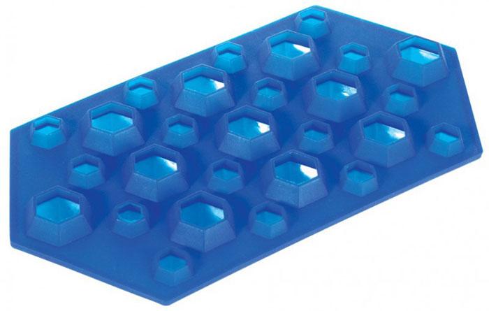 Форма для льда Regent Inox Бриллианты, силиконовая, цвет: синий, 23 х 12 х 2,5 смOS1000SK/GAФорма для льда Бриллианты выполнена из силикона. На одном листе расположены 27 ячеек в виде многогранных бриллиантов. Благодаря тому, что формочки изготовлены из силикона, готовый лед вынимать легко и просто. Чтобы достать льдинки, эту форму не нужно держать под теплой водой или использовать нож.Теперь на смену традиционным квадратным пришли новые оригинальные формы для приготовления фигурного льда, которыми можно не только охладить, но и украсить любой напиток. В формочки при заморозке воды можно помещать ягодки, такие льдинки не только оживят коктейль, но и добавят радостного настроения гостям на празднике! Характеристики: Размер общей формы:23 см х 12 см х 2,5 см. Материал: силикон. Цвет: синий. Размер упаковки:31 см х 15 см х 3 см. Изготовитель: Италия. Артикул:93-SI-FO-16.5.
