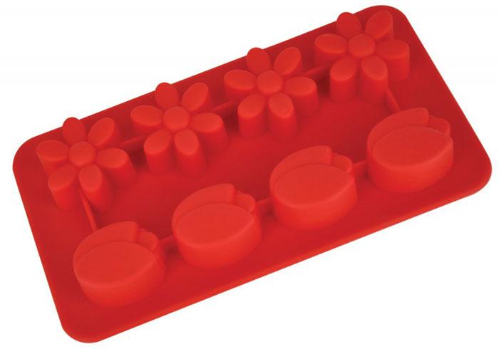 Форма для выпечки и заморозки Regent Inox Цветочки, цвет: красный, 8 ячеек20.45.22Форма для выпечки и заморозки Regent Inox Цветочки выполнена из силикона и предназначена для изготовления конфет, мармелада, желе, льда и выпечки. На одном листе расположено 8 небольших ячеек в форме цветов. Оригинальный способ подачи изделий не оставит равнодушными родных и друзей.Силиконовые формы выдерживают высокие и низкие температуры (от -40°С до +230°С). Они эластичны, износостойки, легко моются, не горят и не тлеют, не впитывают запахи, не оставляют пятен. Силикон абсолютно безвреден для здоровья.Не используйте моющие средства, содержащие абразивы. Можно мыть в посудомоечной машине. Подходит для использования во всех типах печей.Формы для выпечки и заморозки Regent Inox - отличный подарок! Они удобны и необходимы любой хозяйке! Характеристики: Материал: силикон. Размер общей формы: 19,5 см х 10,5 см х 2,5 см. Средний размер одной ячейки: 3 см х 3 см. Количество ячеек: 8 шт. Цвет: красный. Артикул: 93-SI-FO-16.8.